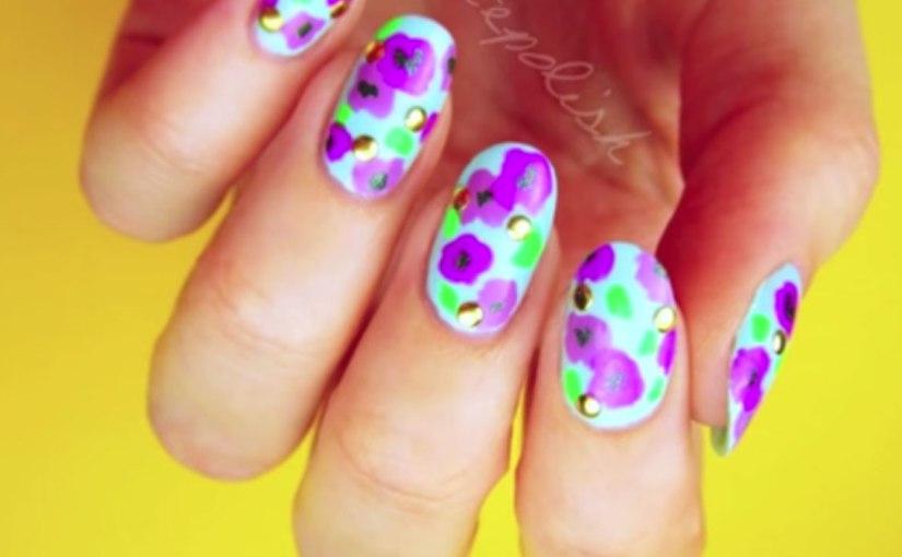 Bold Floral Nail Art No Tools Glamrs