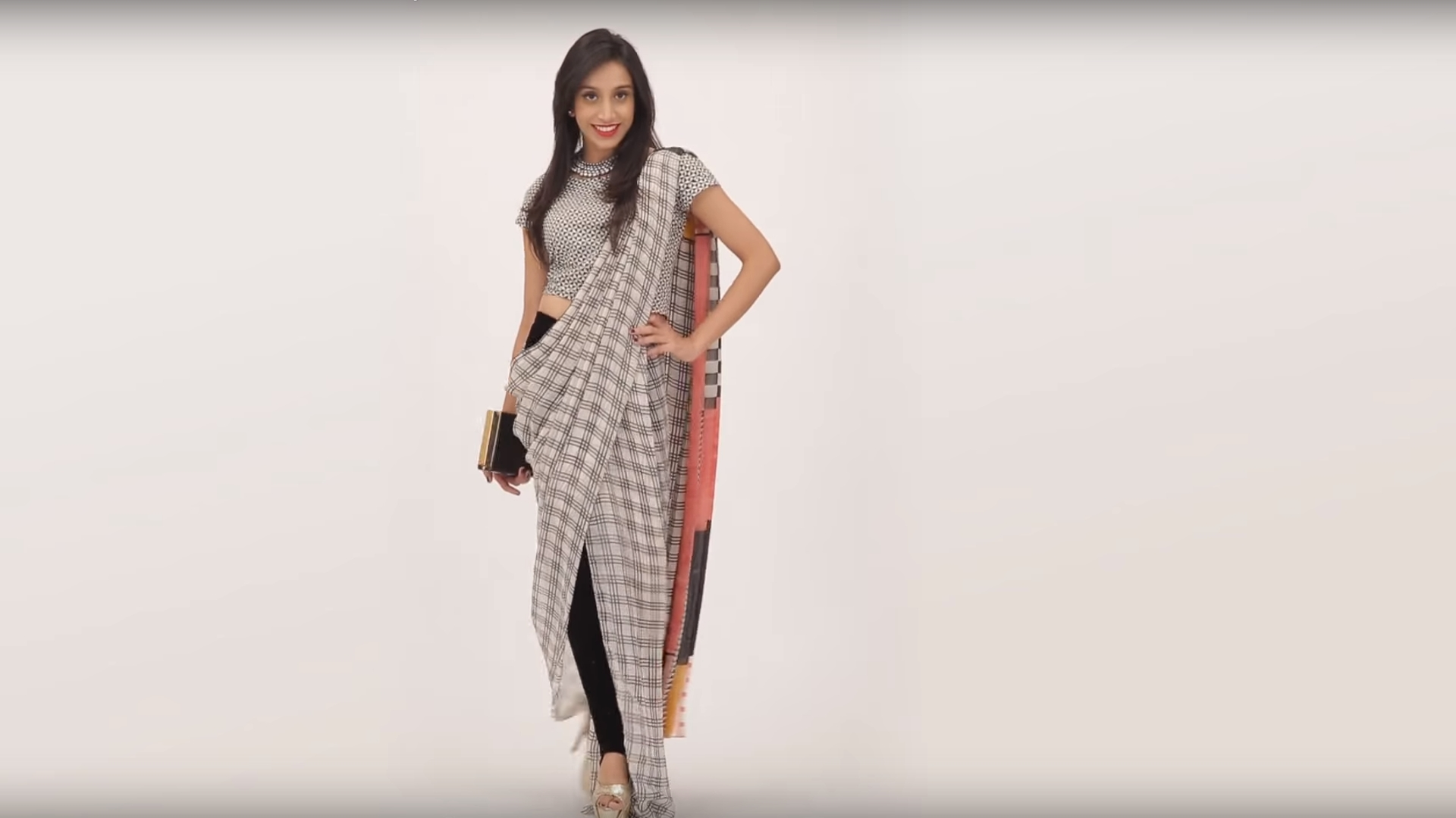 2019 year for lady- How to saree wear with pants