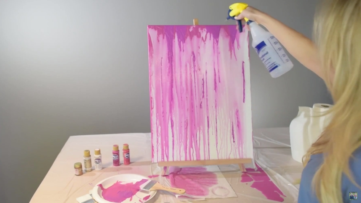 Make Your Own Drip Art Canvas Glamrs