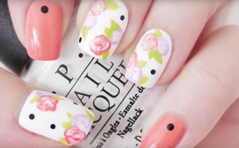 Floral Nail Art : Using A Toothpick! – Glamrs