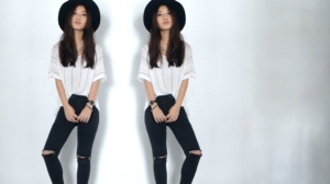 how to style black ripped jeans