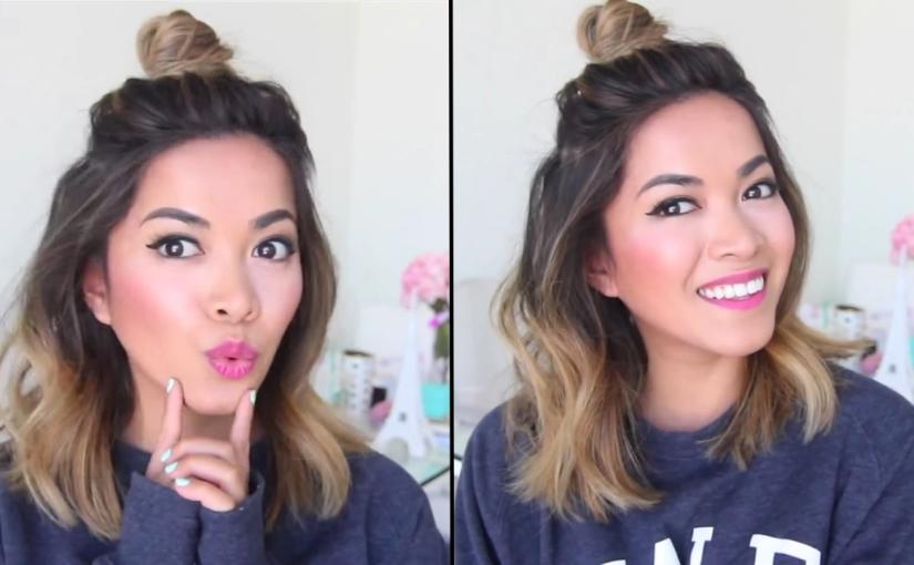 Half Bun For Short Hair Trending Hairstyle Glamrs